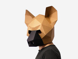HYENA <br> DIY Paper Mask Template