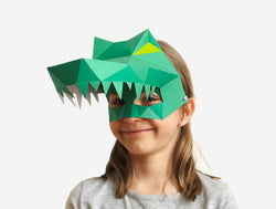 KIDS CROCODILE <br> DIY Paper Mask Template