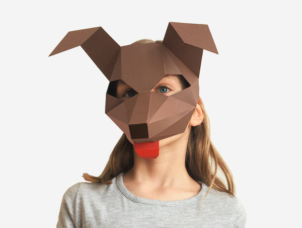 KIDS DOG <br> DIY Paper Mask Template