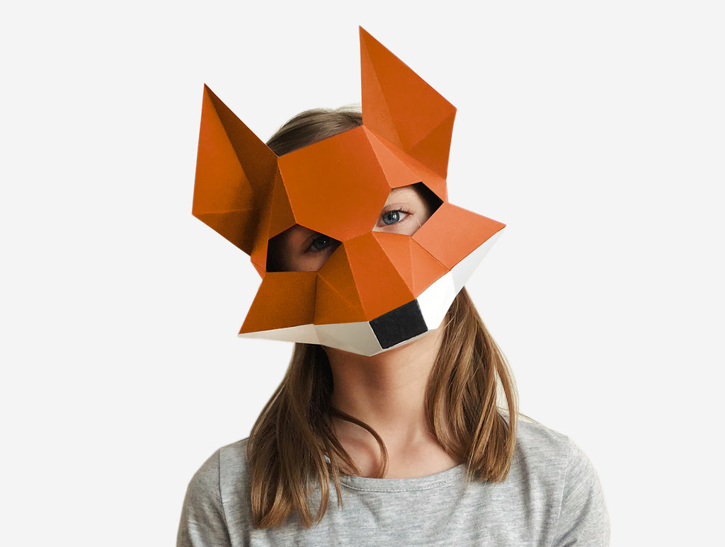 It is an image of Fox Mask Printable throughout template