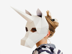 KIDS UNICORN <br> DIY Paper Mask Template