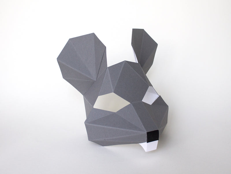 KIDS MOUSE <br> DIY Paper Mask Template