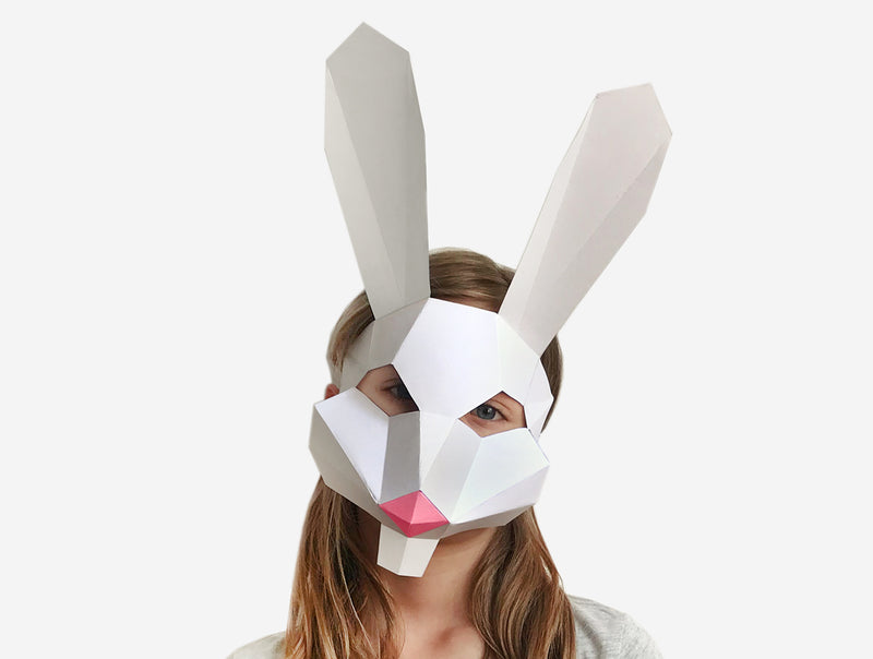 KIDS BUNNY <br> DIY Paper Mask Template