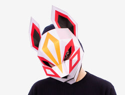 KITSUNE MASK JAPANESE FOX MASK <br> DIY Paper Mask Template