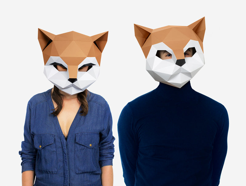 KITTEN CAT <br> DIY Paper Mask Template