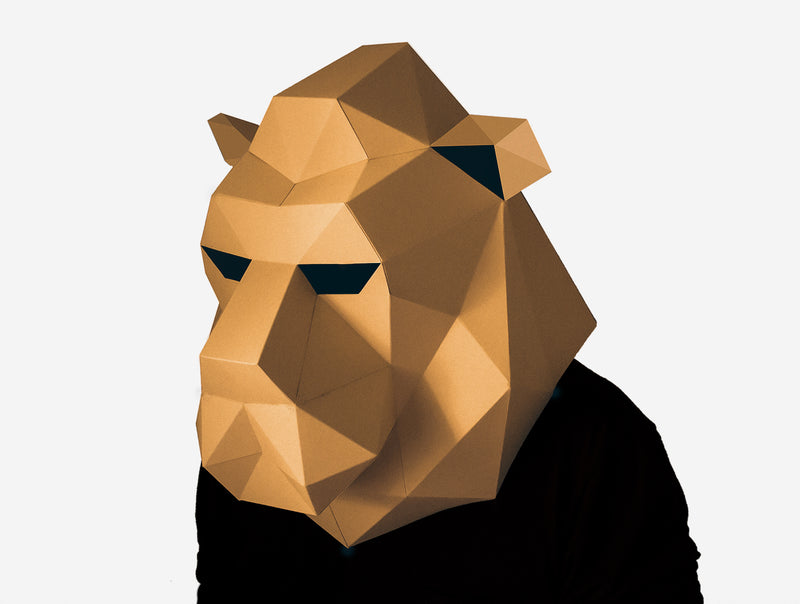 LION <br> DIY Paper Mask Template
