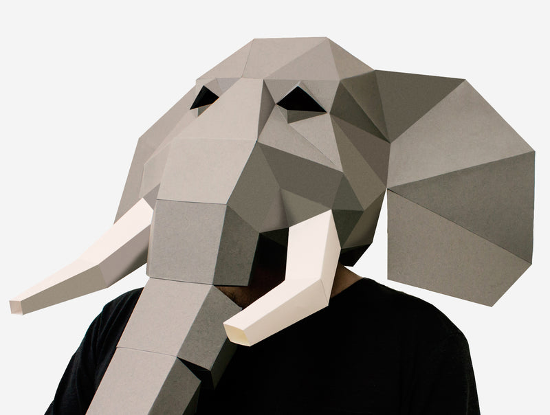 ELEPHANT MASK <br> DIY Paper Mask Template