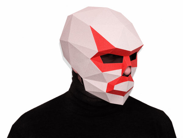 LUCHADOR <br> DIY Paper Mask Template