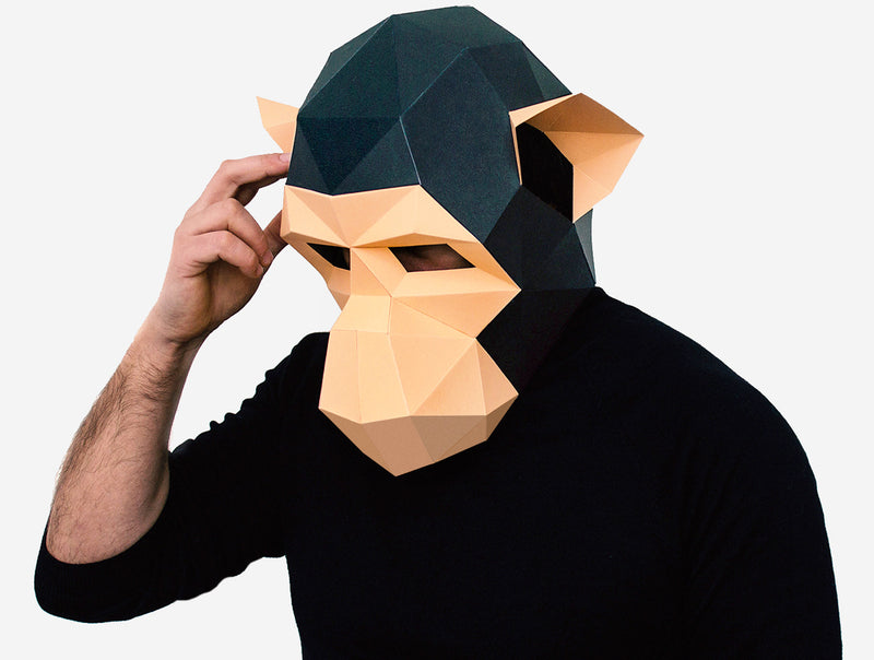 MONKEY <br> DIY Paper Mask Template