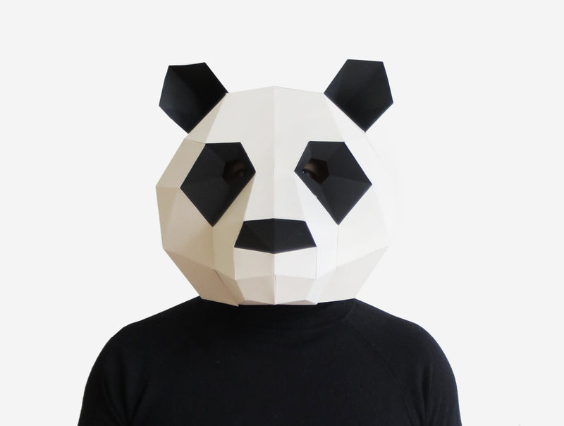 PANDA <br> DIY Paper Mask Template