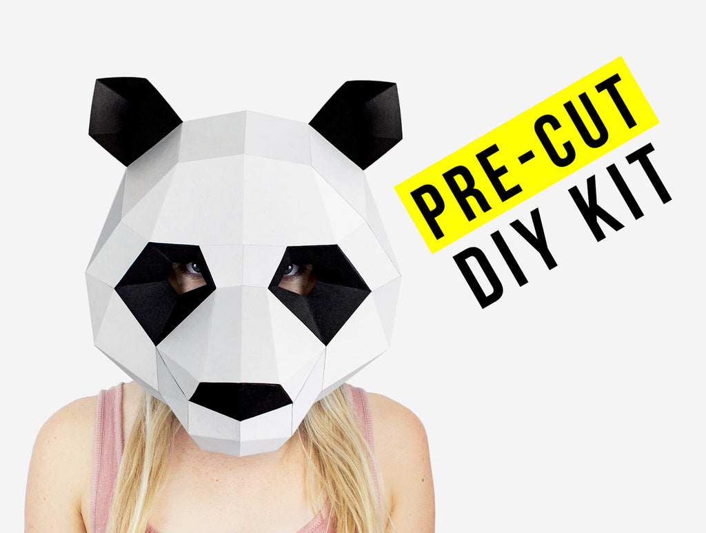 All Our Masks Are Pre-Cut! Wolf Card Animal Face Mask