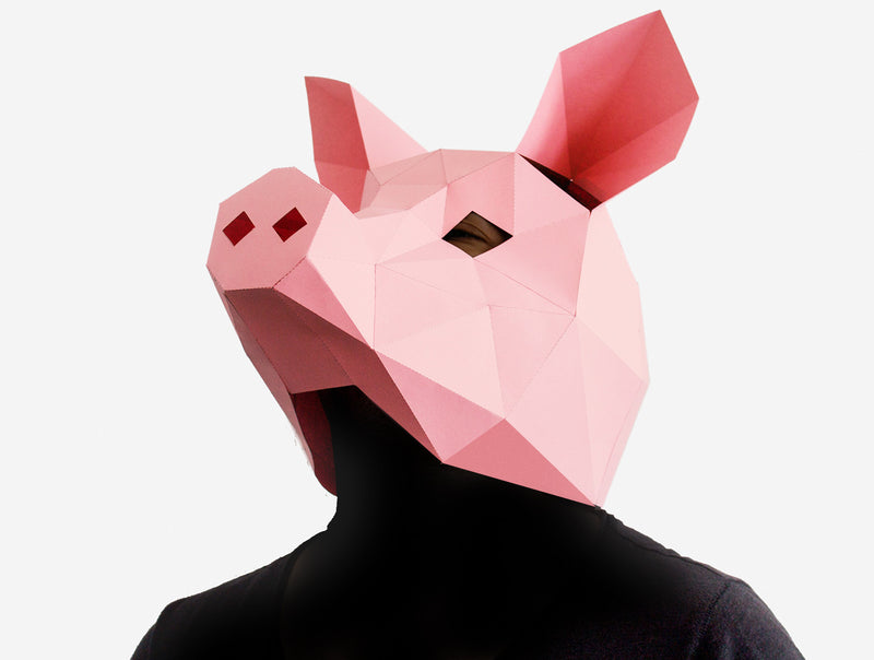 PIG <br> DIY Paper Mask Template