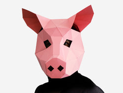 photograph relating to Printable Pig Mask named PIG Do it yourself Paper Mask Template Lapa Studios