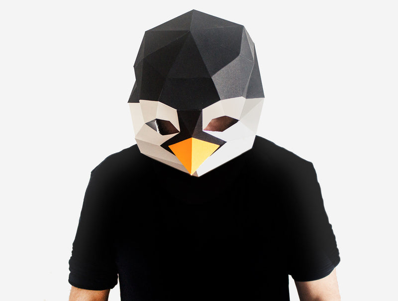PENGUIN <br> DIY Paper Mask Template