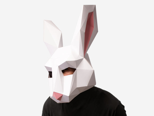 RABBIT <br> DIY Paper Mask Template