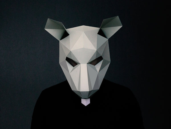 RAT <br> DIY Paper Mask Template