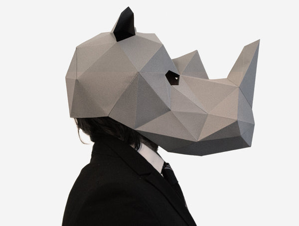 RHINO <br> DIY Paper Mask Template