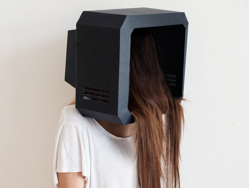 TV <br> DIY Paper Mask Template