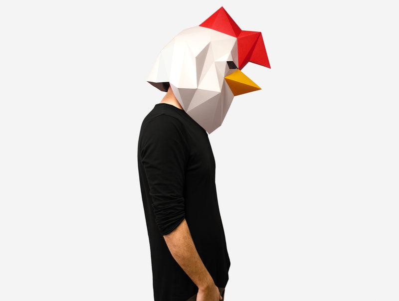 ROOSTER <br> DIY Paper Mask Template