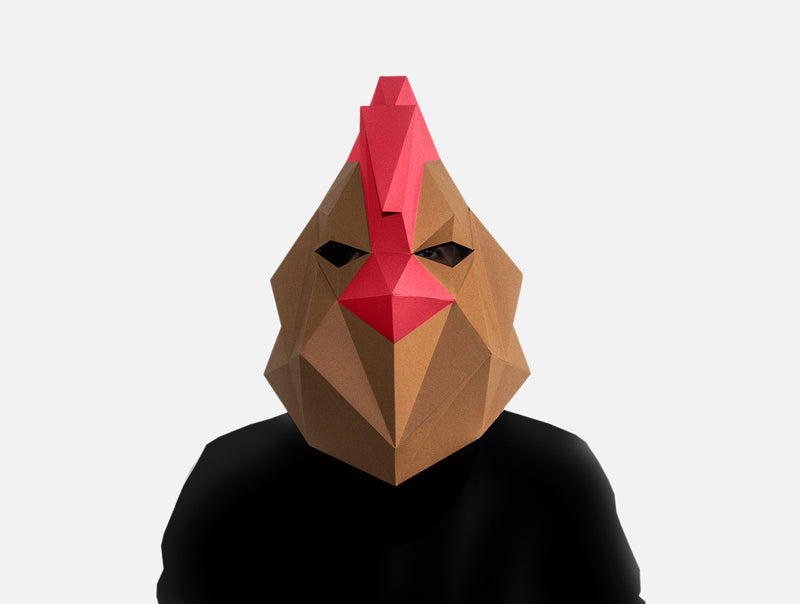 ROOSTER <br> Printable Mask Pattern