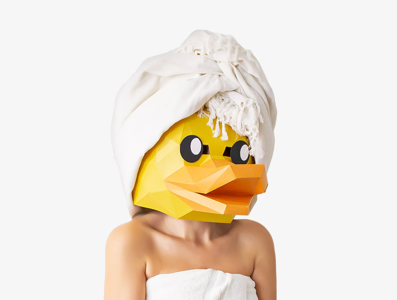 RUBBER DUCK MASK <br> DIY Paper Mask Template
