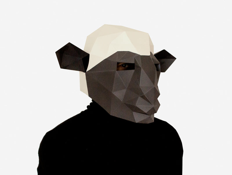 SHEEP <br> DIY Paper Mask Template