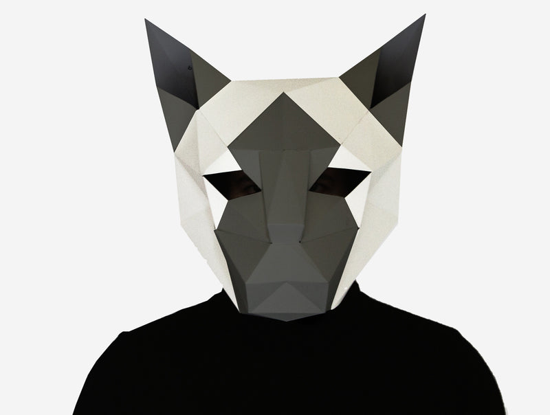 SIAMESE CAT <br> DIY Paper Mask Template