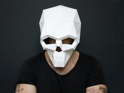 SKULL <br> DIY Paper Mask Template