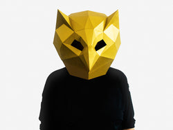 OWL <br> DIY Paper Mask Template