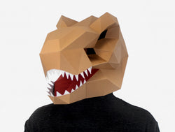 image regarding Dinosaur Mask Printable known as T-REX DINOSAUR Do-it-yourself Paper Mask Template Lapa Studios