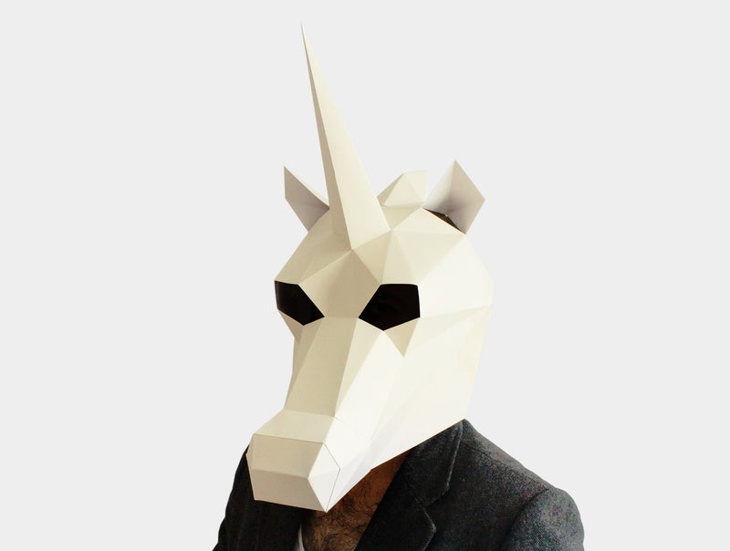 UNICORN <br> DIY Paper Mask Template