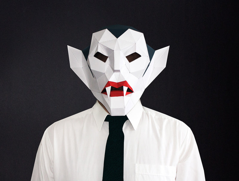 VAMPIRE <br> DIY Paper Mask Template