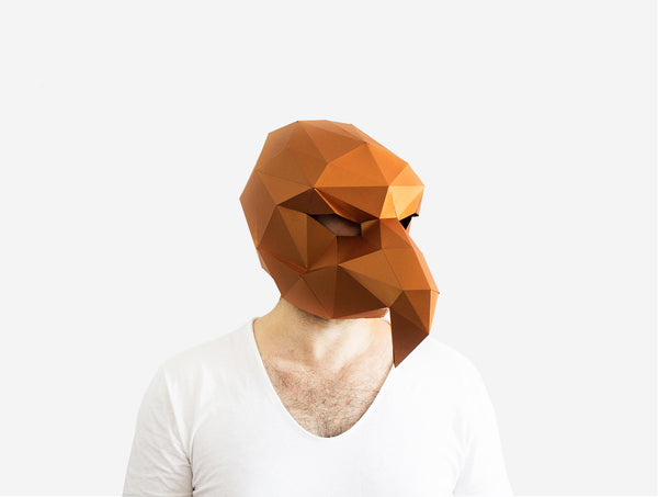 VULTURE <br> DIY Paper Mask Template