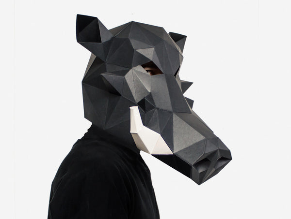 WARTHOG / BOAR <br> DIY Paper Mask Template