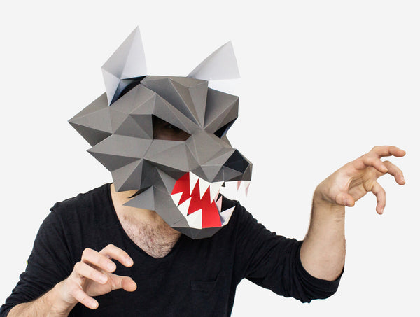 WEREWOLF <br> DIY Paper Mask Template