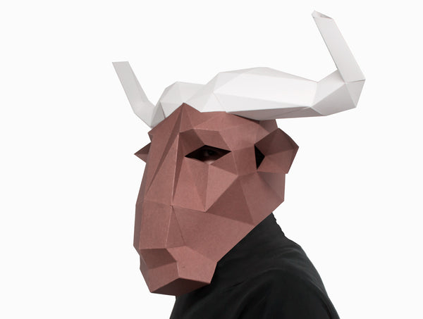 WILDEBEEST / GNU <br> DIY Paper Mask Template