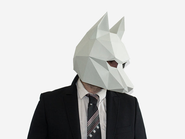 WOLF <br> DIY Paper Mask Template