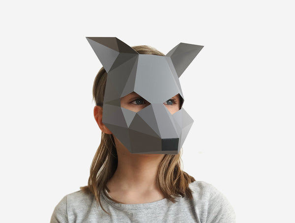 KIDS WOLF <br> DIY Paper Mask Template