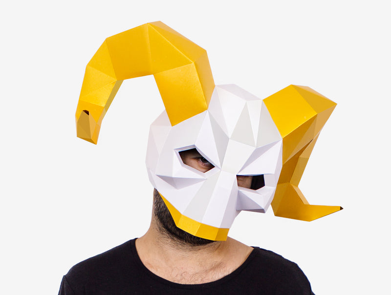 VIKING SKULL MASK  <br> DIY Paper Mask Template
