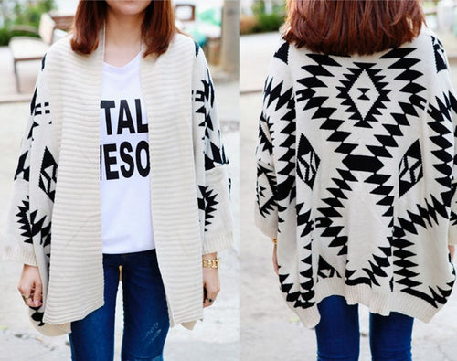 Aztec Over-Sized Cardigan - 3 Colors Available