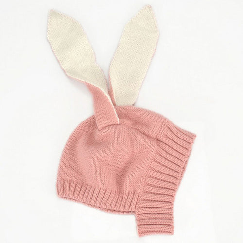 Infant Knitted Long Ear Bunny Hat