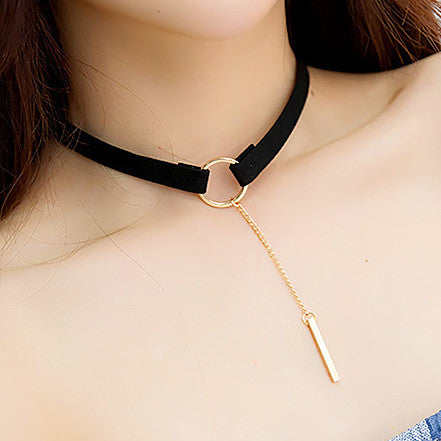 90's Choker Necklace With Tassel