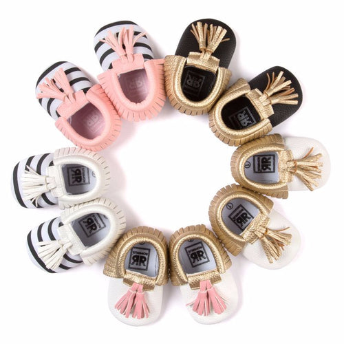 Baby Moccasins With Tassels - 16 Styles