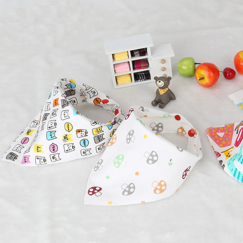 Double Layer Soft Cotton Baby Bibs