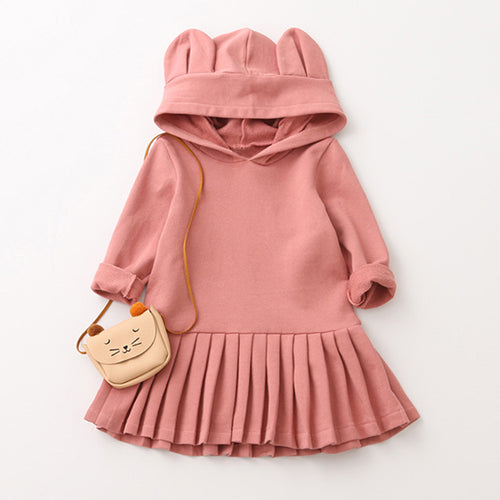 Bunny Hooded Girl's Dress