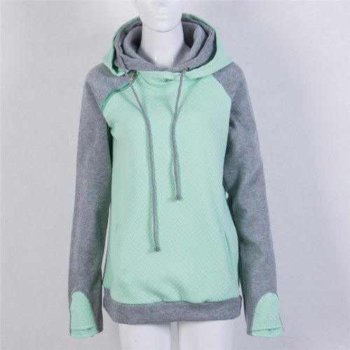 Quilted Double Hoodie With Zipper Detail