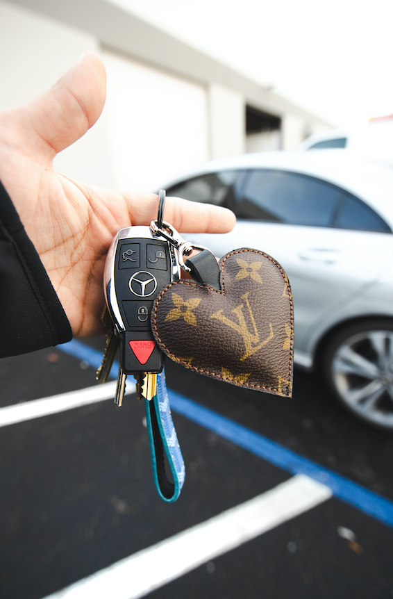 Heart Louis Vuitton keychain