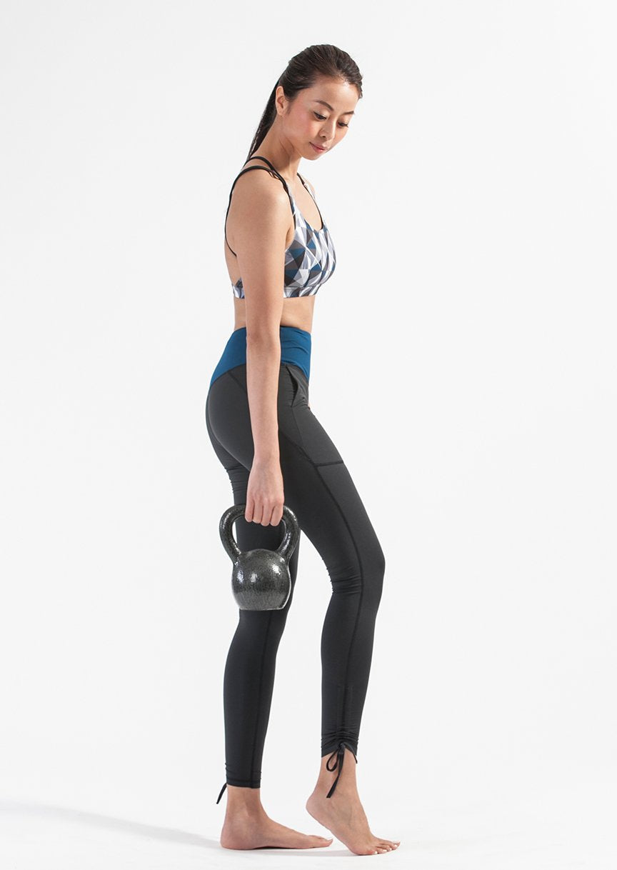 Wanderer Legging in Black + Sight Mirror Bra Set