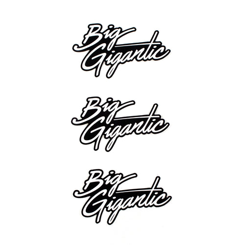 Big Gigantic Logo Sticker Pack of 3