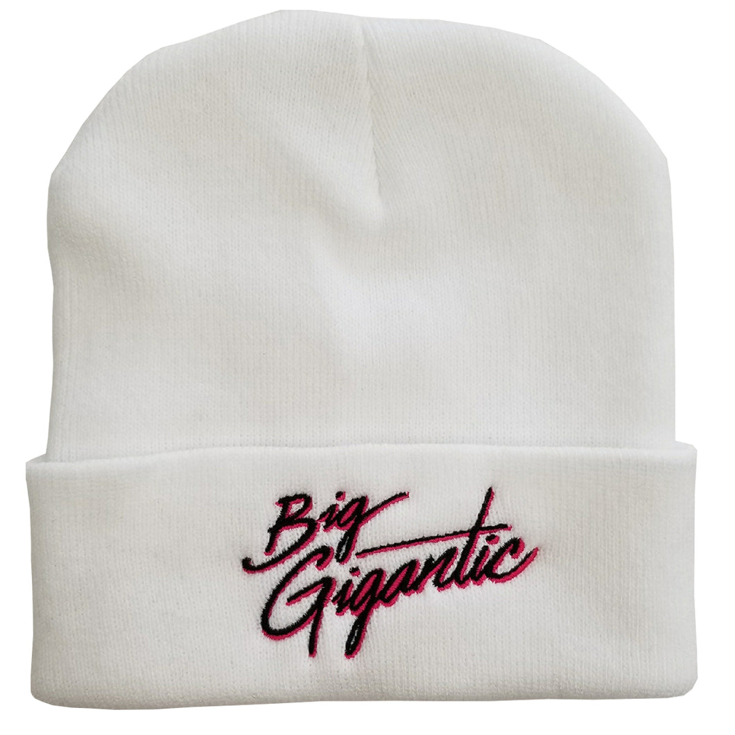 Big Gigantic White Beanie